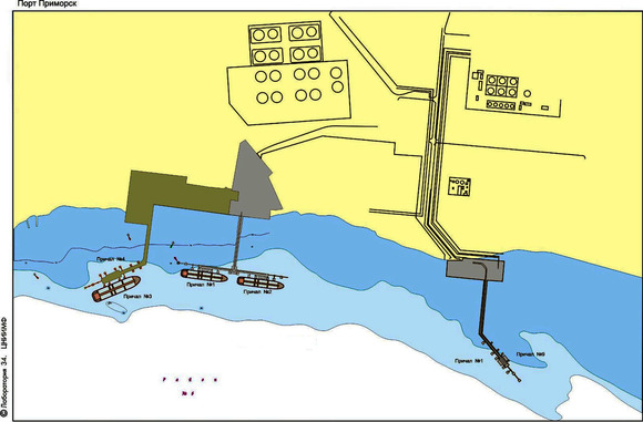Схема причалов РПК Петротрал 1