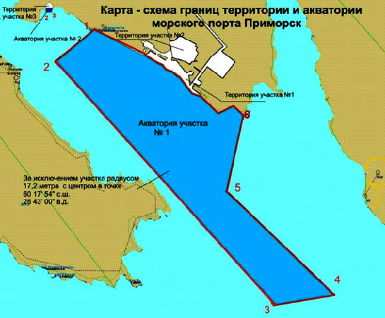 Подходы к морскому порту